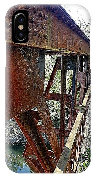 Abandoned Steel Bridge Nashville Indiana IPhone Case