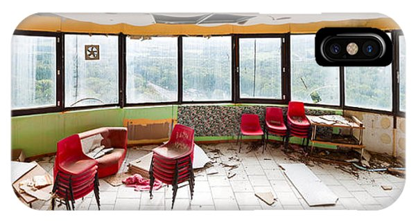 Abandoned Tower Restaurant - Urban Panorama IPhone Case