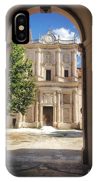 Abbey Of The Holy Spirit At Morrone In Sulmona, Italy IPhone Case