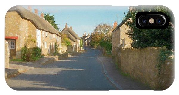Dorset iPhone Case - Abbotsbury Village Pastel by Roy Pedersen