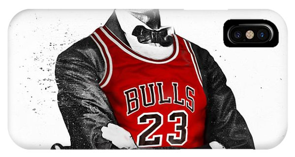 City iPhone Case - Abe Lincoln In A Michael Jordan Chicago Bulls Jersey by Roly O