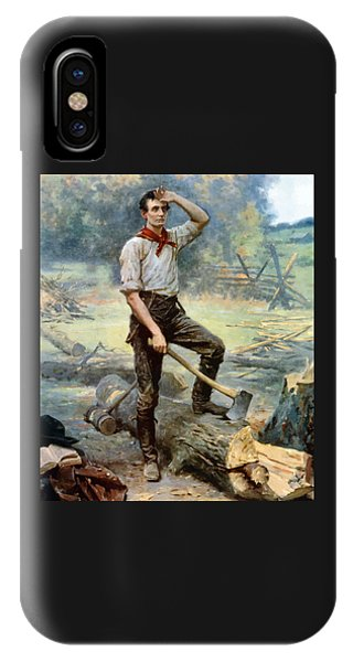 Abraham Lincoln iPhone Case - Abe Lincoln The Rail Splitter  by War Is Hell Store