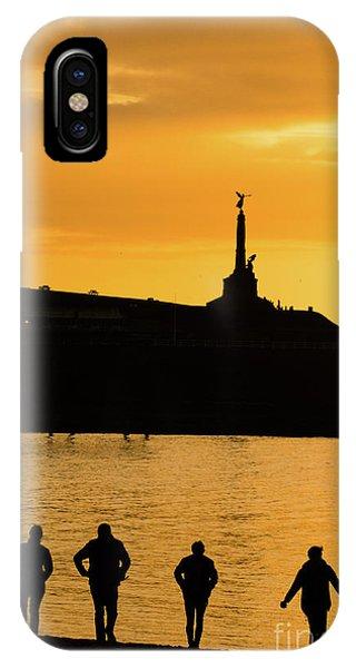 Aberystwyth Sunset Silhouettes IPhone Case