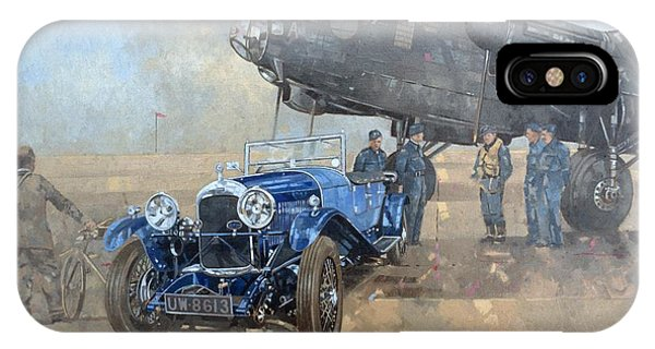 Car iPhone X Case - Able Mable And The Blue Lagonda  by Peter Miller