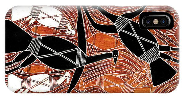 Aboriginal Birds IPhone Case