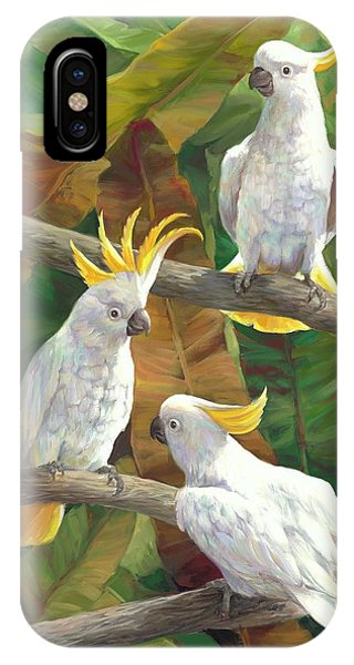 Cockatoo iPhone Case - Above It All by Laurie Hein