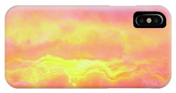IPhone Case featuring the mixed media Above The Clouds - Abstract Art by Jaison Cianelli