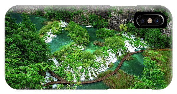 Above The Paths And Waterfalls At Plitvice Lakes National Park, Croatia IPhone Case