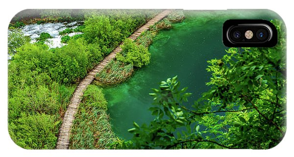 Above The Paths At Plitvice Lakes National Park, Croatia IPhone Case