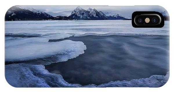 Abraham Lake Sans Bubbles IPhone Case