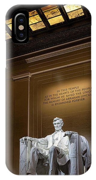 Lincoln Memorial iPhone Case - Abraham Lincoln by Andrew Soundarajan