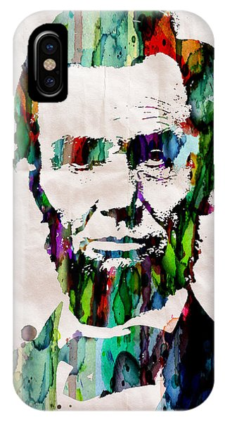 Abraham Lincoln Art Watercolor IPhone Case