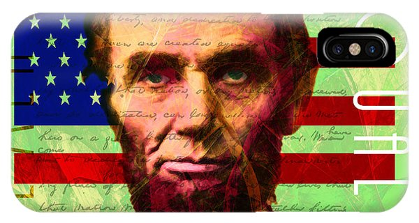 Abraham Lincoln Gettysburg Address All Men Are Created Equal 20140211p68 IPhone Case
