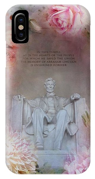 Lincoln Memorial iPhone Case - Abraham Lincoln Memorial At Spring by Marianna Mills