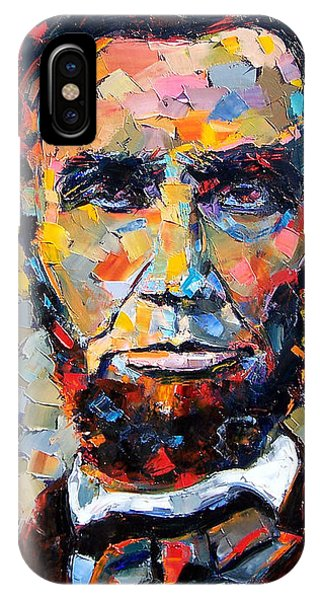 Impressionism iPhone X Case - Abraham Lincoln Portrait by Debra Hurd