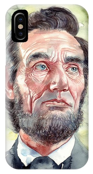 Abraham Lincoln iPhone Case - Abraham Lincoln Portrait by Suzann's Art