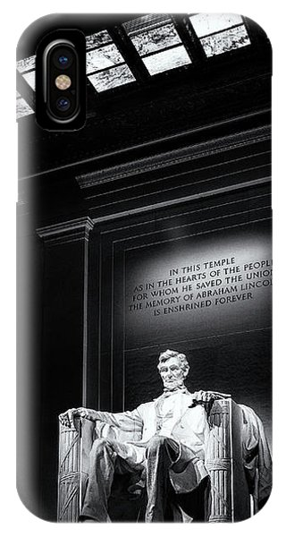 Lincoln Memorial iPhone Case - Abraham Lincoln Seated by Andrew Soundarajan