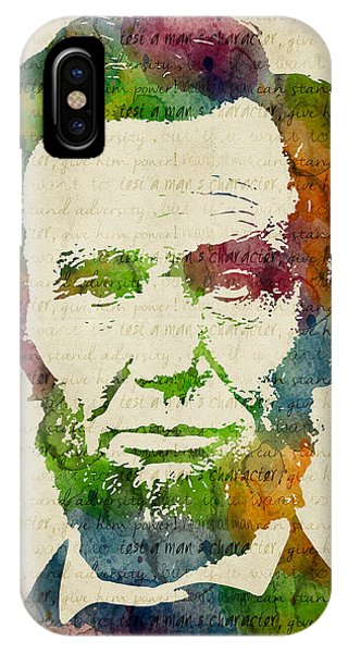 Abraham Lincoln Watercolor IPhone Case