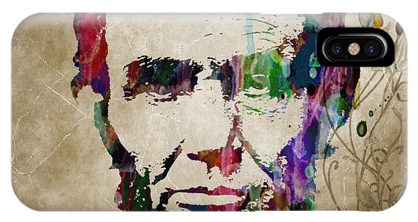 Abraham Lincoln Watercolor Modern Abstract Pop Art Color IPhone Case