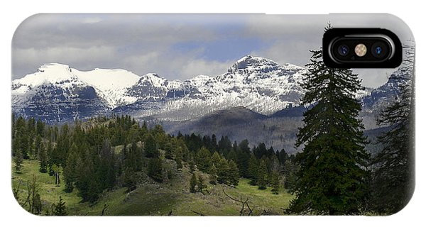 Absaroka Mts Wyoming IPhone Case