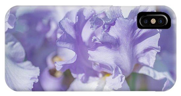 Absolute Treasure Closeup. The Beauty Of Irises IPhone Case