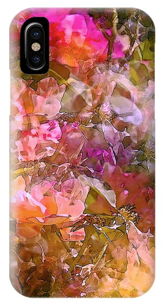 Rosebush iPhone Case - Abstract 276 by Pamela Cooper