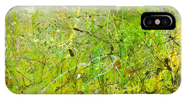 Abstract #42515b Or Marsh Life IPhone Case