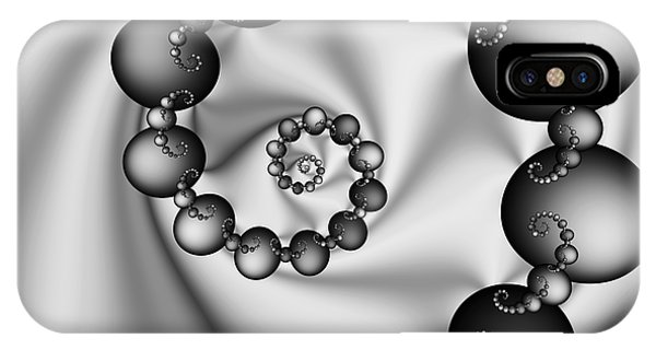 Abstract 537 Bw IPhone Case