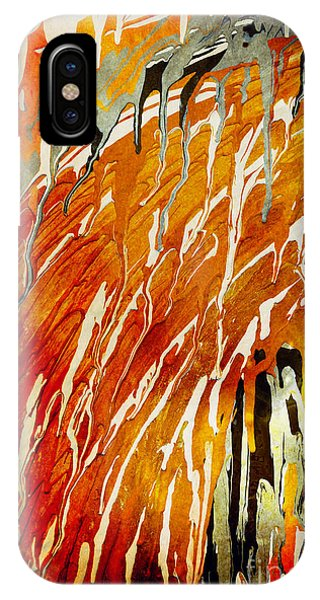 IPhone Case featuring the painting Abstract A162916 by Mas Art Studio