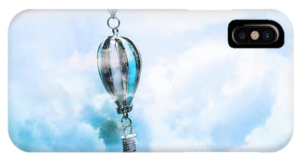 Metal iPhone Case - Abstract Air Baloon Hanging On Chain by Jorgo Photography - Wall Art Gallery