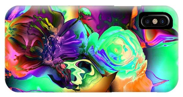 Abstract-aqua Mood Phone Case by Patricia Motley