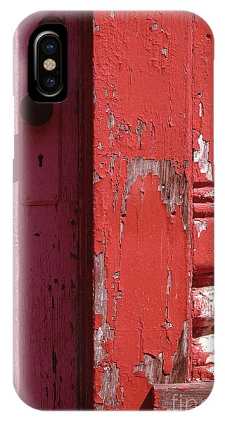 abstract architecture - Red Door IPhone Case