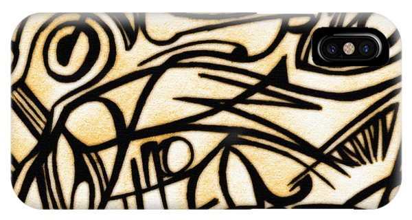 Abstract Art Gold 2 IPhone Case
