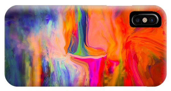 Sherri iPhone Case - Abstract Art  Waiting by Sherri's - Of Palm Springs