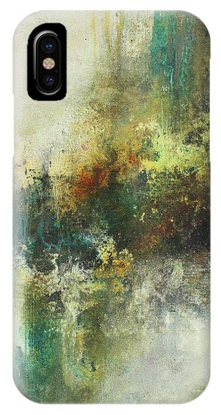 Abstract Art With Blue Green And Warm Tones IPhone Case