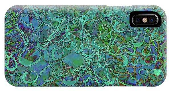 Abstract Azurite IPhone Case