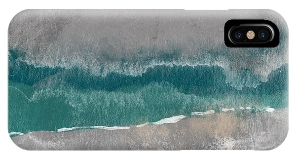 Teal iPhone Case - Abstract Beach Landscape- Art By Linda Woods by Linda Woods