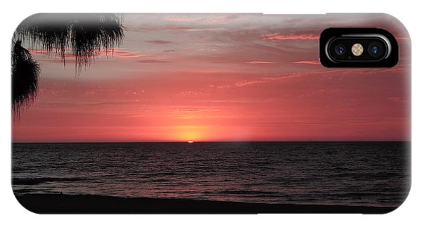 Abstract Beach Palm Tree Sunset IPhone Case