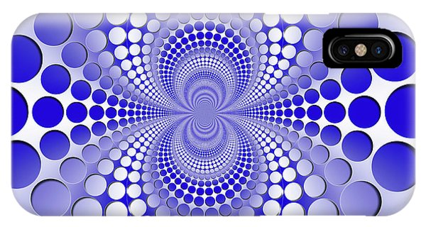 iPhone Case - Abstract Blue And White Pattern by Vladimir Sergeev