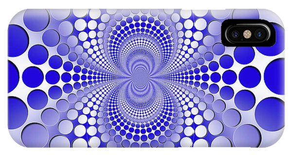 Abstract Blue And White Pattern IPhone Case