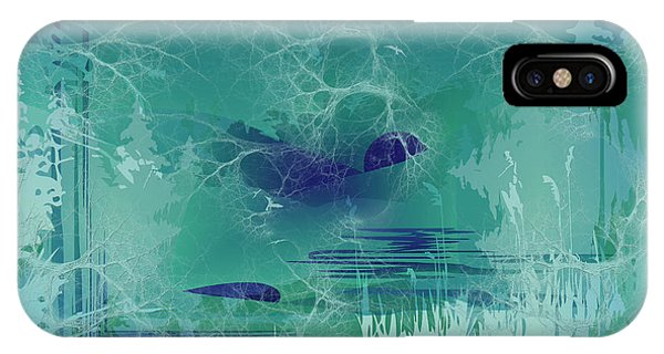 Abstract Blue Green IPhone Case