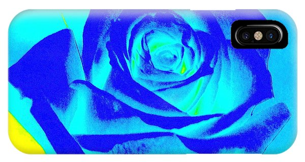 Single Blue Rose Abstract IPhone Case