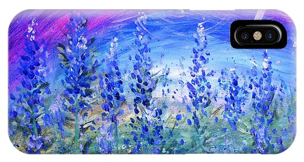 Abstract Bluebonnets IPhone Case