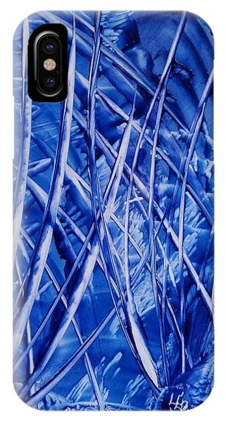 Abstract Blues Encaustic IPhone Case