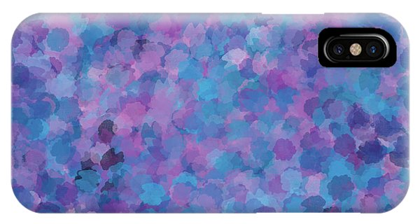 IPhone Case featuring the mixed media Abstract Blues Pinks Purples 3 by Clare Bambers
