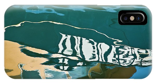 IPhone Case featuring the photograph Abstract Boat Reflection by Dave Gordon