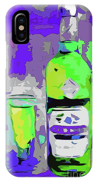 Abstract Bottle Absinthe Modern Art IPhone Case