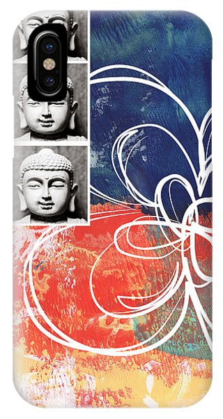 Religious iPhone Case - Abstract Buddha by Linda Woods