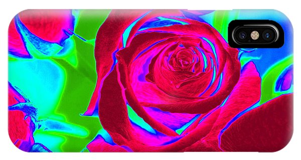 Burgundy Rose Abstract IPhone Case