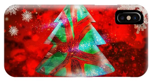 Abstract Christmas Bright IPhone Case